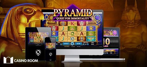 Få freespins till Pyramid Quest for Immortality hos CasinoRoom