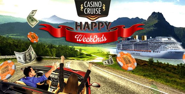 Happy weekends med bonusar hos Casino Cruise