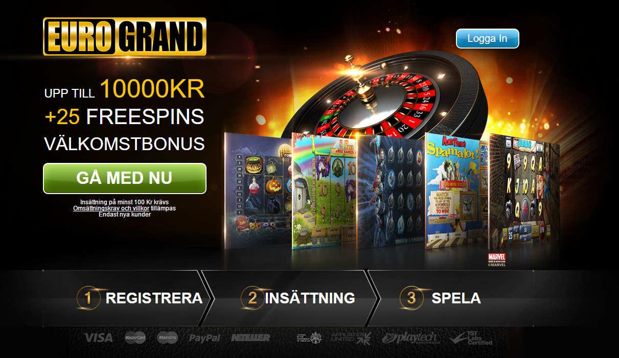 Spela och vinn på roulette med EuroGrand bonus