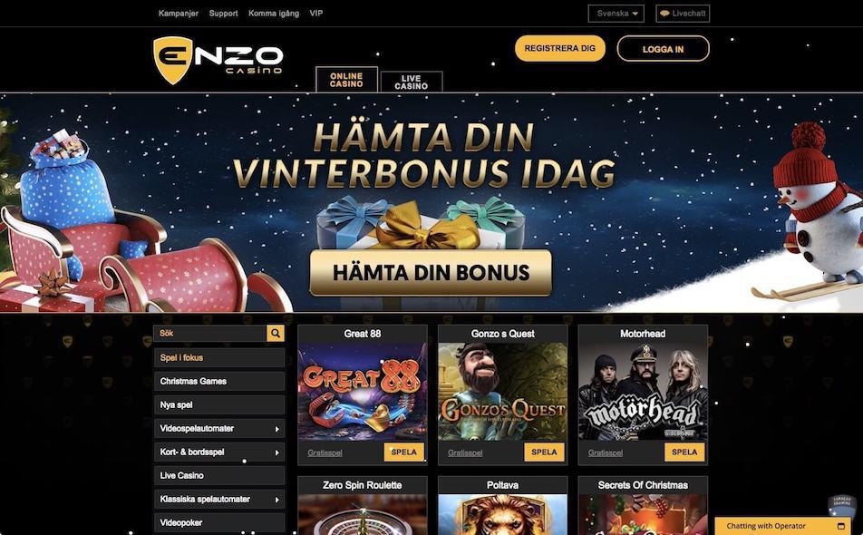 Få bonuserbjudanden varje dag hos Enzo Casino
