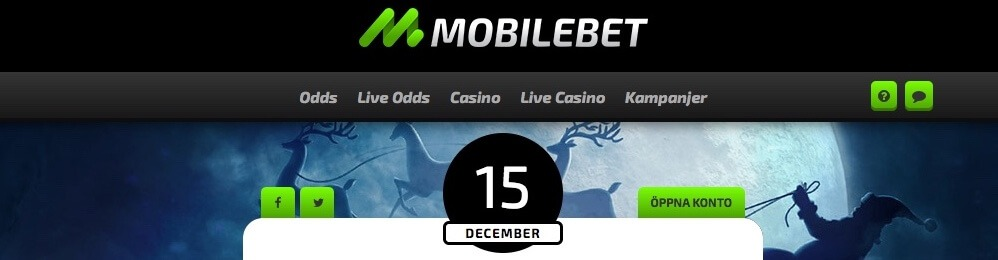 mobilebet erbjudande 15 december julspins