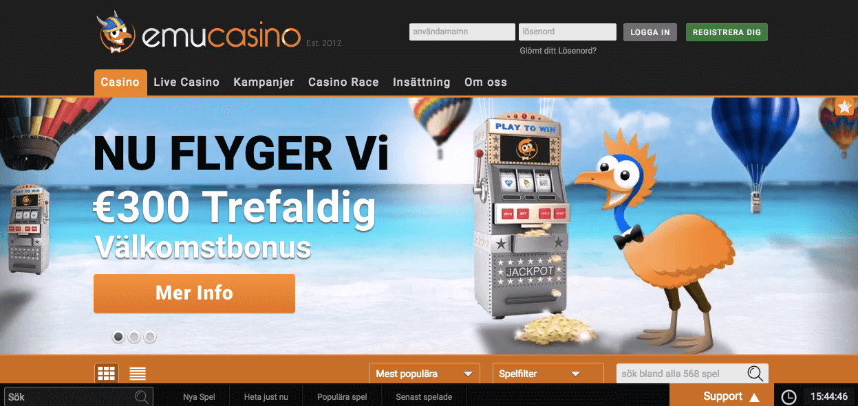 Emu slots och casinospel