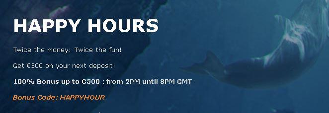 Oceanbets happy hours
