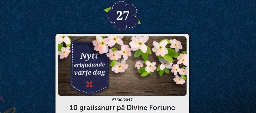 10 free spins på divine fortune hos folkeautomaten