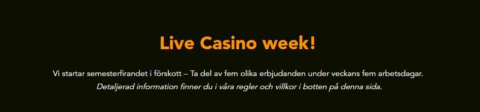 spela live casino hos codeta och få bonus