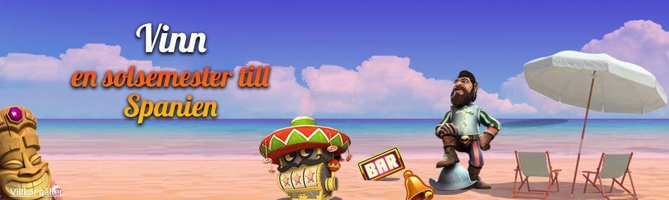 Spela och tävla med spinstation om att vinna en resa till spanien