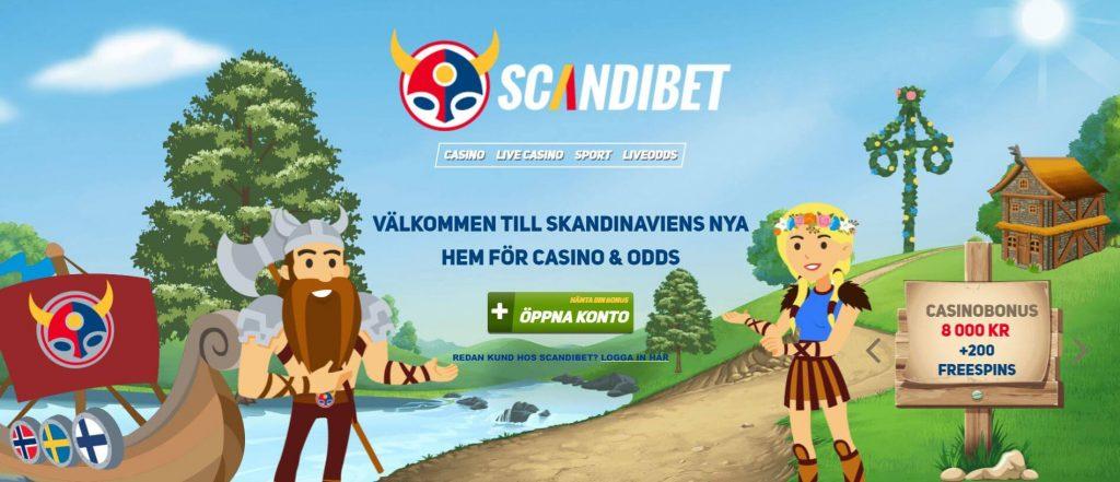 Scandibet Casino startsida