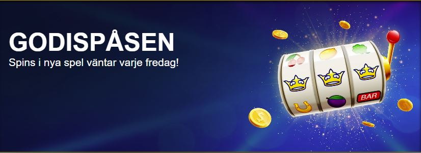 Godispåsen med free spins hos Sverigekronan
