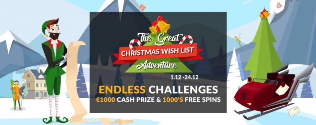 Juläventyr med massa bonusar väntar hos Shadowbet