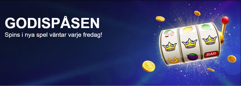 SverigeKronan godispåsen kampanj med free spins